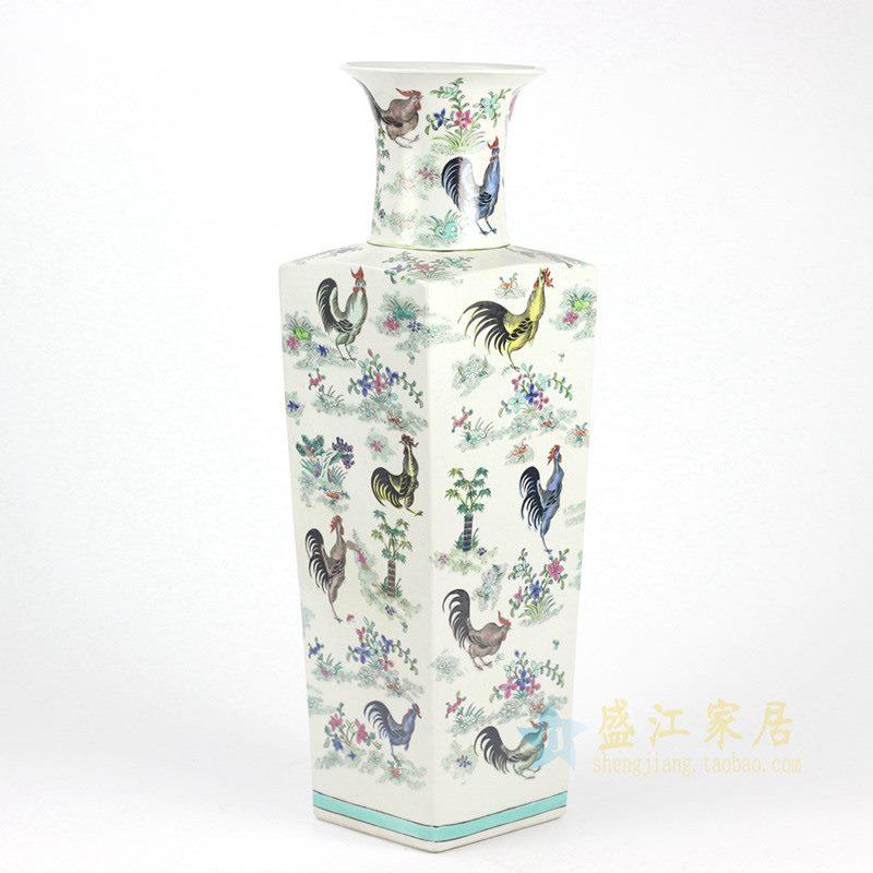 RYYQ02手绘四方花瓶
