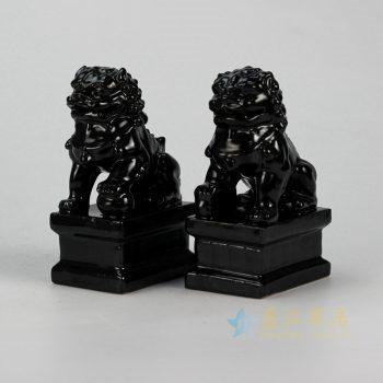 RYXP21-H 黑色狮子雕塑摆件