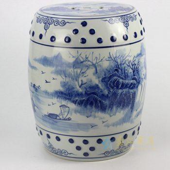 RYLL41青花瓷手绘凳子