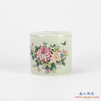 RYBE11-P粉彩 花鸟 蟋蟀罐