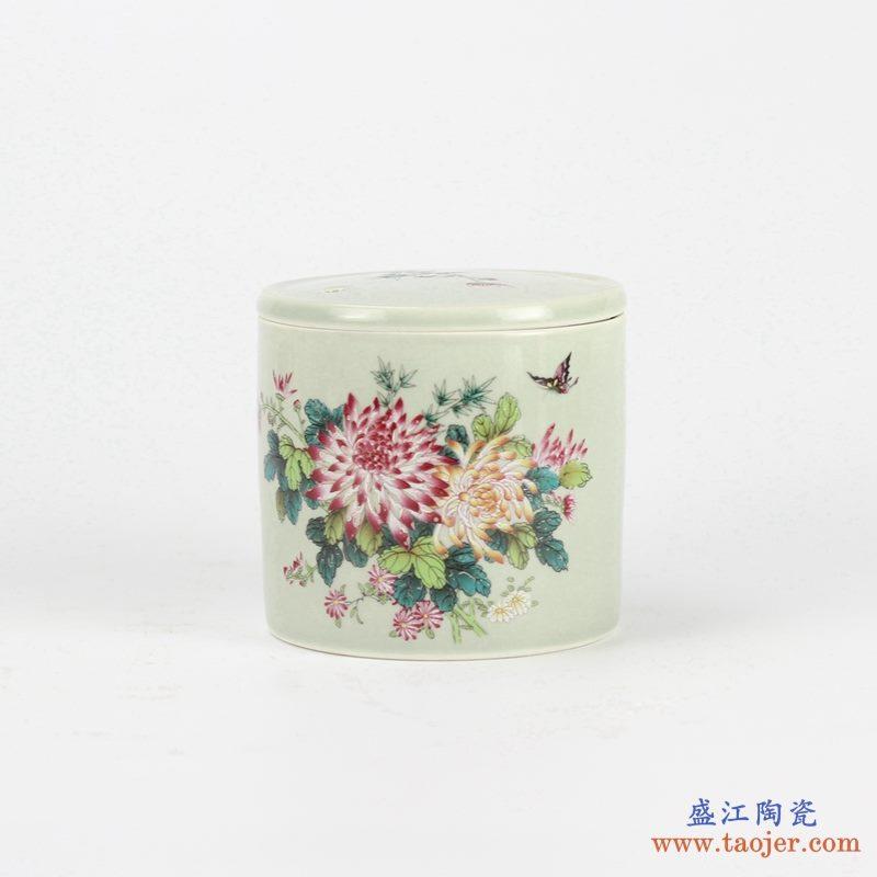粉彩茶叶罐
