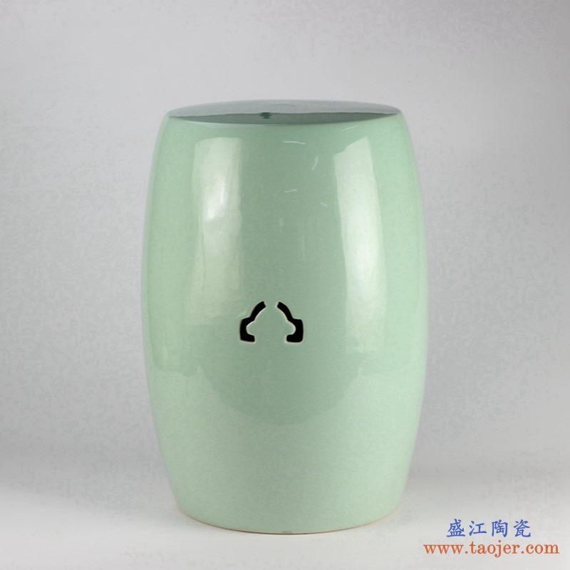 景德镇  颜色釉 陶瓷凳子 绿色 凉墩  浴室凳子
