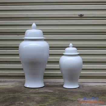 RYKB140-A   景德镇 乳蓝 颜色釉 将军罐  艺术花瓶 摆件品