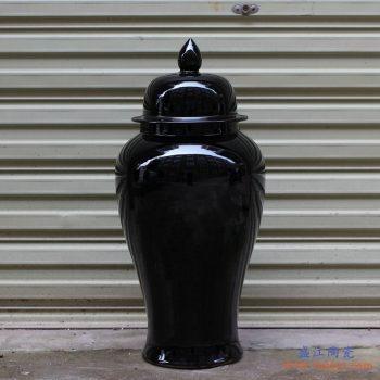 RYKB140-B  景德镇 乌金釉 颜色釉 将军罐 艺术花瓶  摆件品