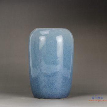 RYNQ189  景德镇  颜色釉 深兰色 艺术花瓶 摆件品