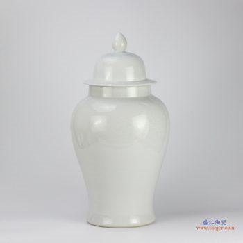 RYNQ190  景德镇  乳白色   将军罐 艺术花瓶