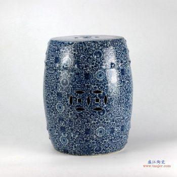 RYTX01-B  景德镇  青花  瓷墩 浴室凳子 陶瓷凉墩  瓷凳