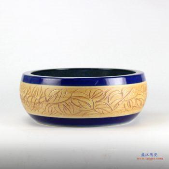 RYXW-YL-DZ-01  雕刻 双层  祭蓝  高温  手工艺术卫浴浴室台盆洗手盆洗脸盆台上盆