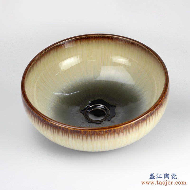 高温 颜色釉窑变 手工艺术卫浴浴室台盆洗手盆洗脸盆台上盆