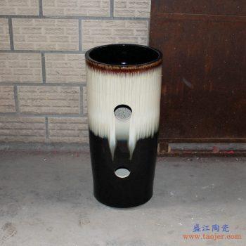 RYXW-YL-DZ-08  高温颜色釉窑变 手工艺术卫浴浴室台盆 台柱一体套组