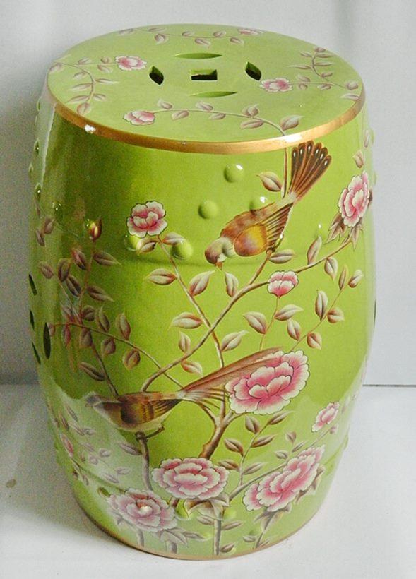 景德镇 盛江陶瓷 陶瓷鼓凳换鞋凳花架凳家居工艺品梳妆凳绣墩装饰摆件