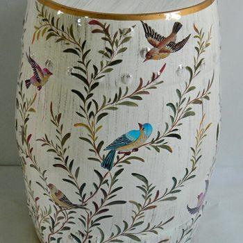 RYYL-Y030  景德镇 颜色釉 花乳黄色陶瓷鼓凳中式客厅书房卧室陶瓷凳换鞋凳鼓凳装饰摆