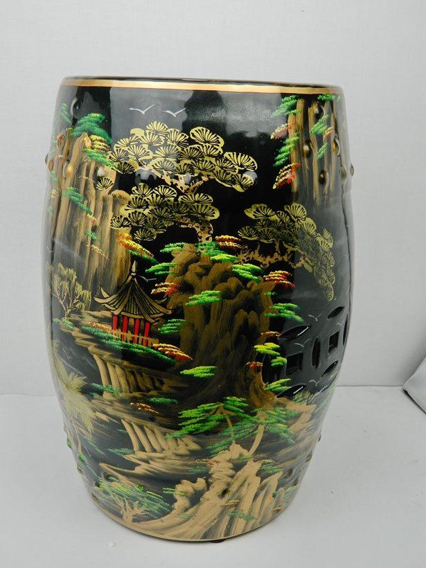 正品 景德镇  颜色釉   陶瓷鼓凳 仿古换鞋凳瓷墩古典梳妆凳陶瓷凳摆件