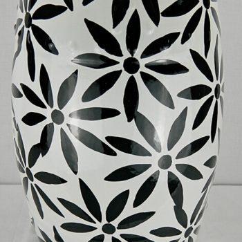 RYYL-Y1030   特价白底黑花陶瓷鼓凳边几櫈换鞋凳梳妆凳实用摆件家居摆设凳子