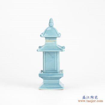RZGE01-C   雕塑  塔形  天蓝  摆件品