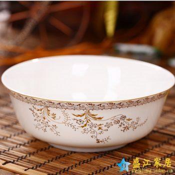 RZHY01-B  景德镇  6英寸高档骨瓷骨质瓷面碗 天鹅湖