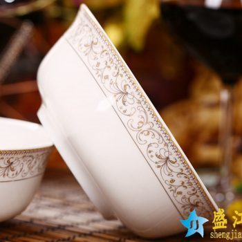 RZHY01-D    景德镇  6英寸高档骨瓷骨质瓷面碗 太阳岛