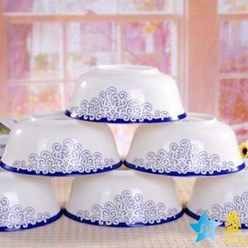 RZHY01-I   景德镇  6英寸高档骨瓷骨质瓷面碗  爱琴海
