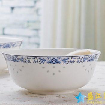RZHY01-J  景德镇  6英寸高档骨瓷骨质瓷面碗  春花季
