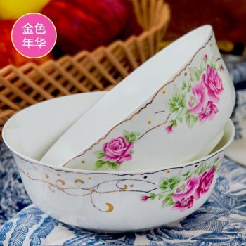 RZHY01-K 景德镇 6英寸高档骨瓷骨质瓷面碗 金色年华