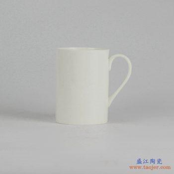 RZIA02  一级骨质瓷 纯白 直筒 景德镇 茶杯 马克杯 水杯 杯子