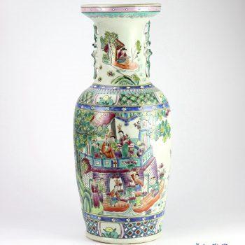 RZIH01  手绘粉彩仿古人物花瓶