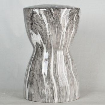 XY16-1667   景德镇   经典传统凳大理石水墨纹路效果中高温陶瓷色釉瓷墩厂家直销