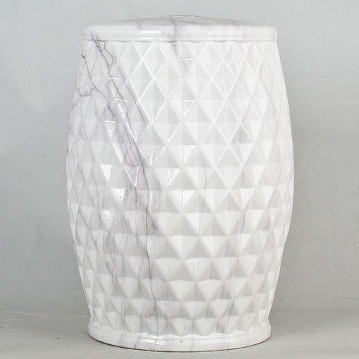 景德镇 雕刻棱形 中高温陶瓷色釉瓷墩厂家直销