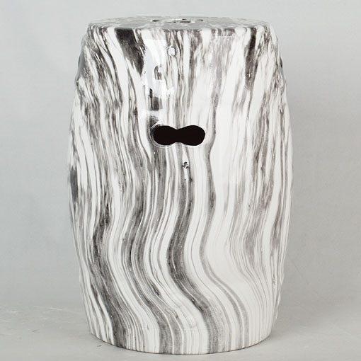 景德镇 大理石水墨纹效果中高温陶瓷色釉瓷墩厂家直销