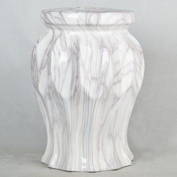 XY16-2511   景德镇  大理石水墨纹条形效果中高温陶瓷色釉瓷墩厂家直销