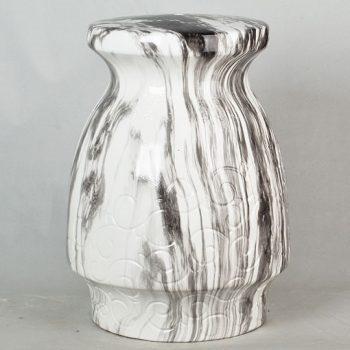 XY16-2512    景德镇 经典传统凳大理石水墨纹效果中高温陶瓷色釉瓷墩厂家直销