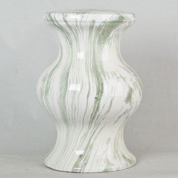 XY16-2513   景德镇 经典传统凳大理石绿线纹效果中高温陶瓷色釉瓷墩厂家直销