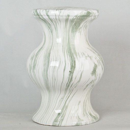 景德镇 经典传统凳大理石绿线纹效果中高温陶瓷色釉瓷墩厂家直销