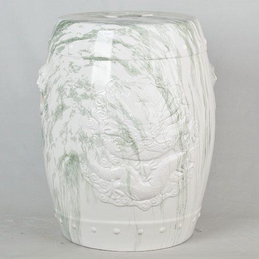 景德镇 经典传统凳大理石效果中高温陶瓷色釉瓷墩厂家直销