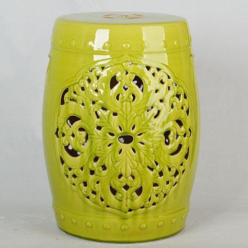 景德镇 美式镂空做旧效果仿古破坏中高温色釉陶瓷凳子瓷墩厂家直销