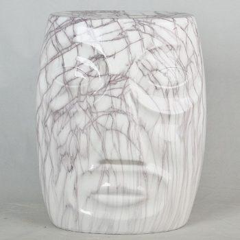 XY16-3192 景德镇 经典传统凳 圆形大理石线条纹效果中高温陶瓷色釉瓷墩厂家直销