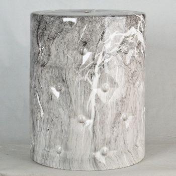 XY16-3200 景德镇 经典传统凳大理石水墨纹路效果中高温陶瓷色釉瓷墩厂家直销