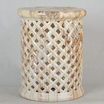 XY16-3201    景德镇  陶瓷凳子瓷墩花园凳中高温色釉镂空厂家直销