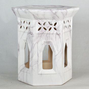XY16-3202    景德镇 镂空 陶瓷凳子瓷墩花园凳中高温色釉镂空厂家直销