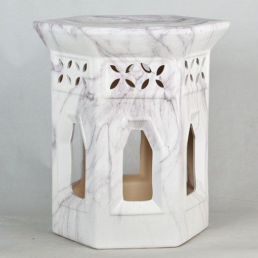 景德镇 镂空 陶瓷凳子瓷墩花园凳中高温色釉镂空厂家直销