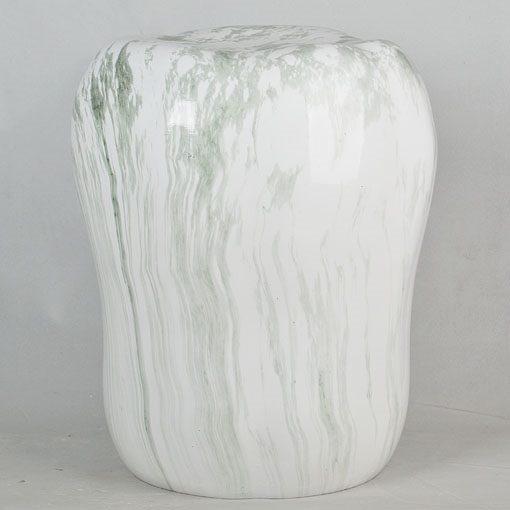 经典传统凳大理石水墨纹路效果中高温陶瓷色釉瓷墩厂家直销