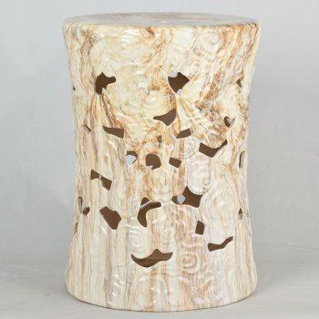 XY16-3230D   景德镇 镂空 陶瓷凳子瓷墩花园凳中高温色釉镂空厂家直销