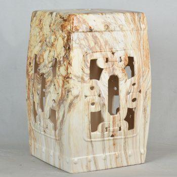 XY16-3252   景德镇  方形  镂空中高温色釉陶瓷凳厂家直销淘宝