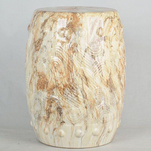 经典传统凳大理石效果中高温陶瓷色釉瓷墩厂家直销