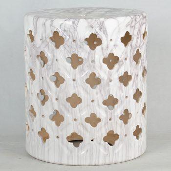 XY16-3319   镂空中高温色釉陶瓷凳厂家直销淘宝