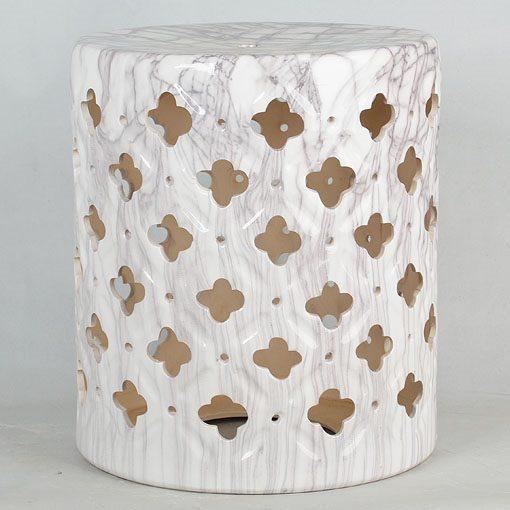 镂空中高温色釉陶瓷凳厂家直销淘宝