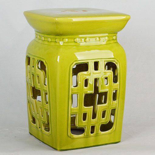 景德镇  帝皇色中高温破坏仿古做旧古典镂空中高温陶瓷凳简约美式厂家直销