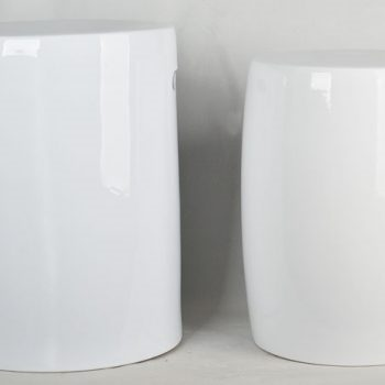 XY16-DSC_0057   景德镇  全白 陶瓷凳卧室洗手间厕所色釉瓷墩室内室外现货淘宝代发