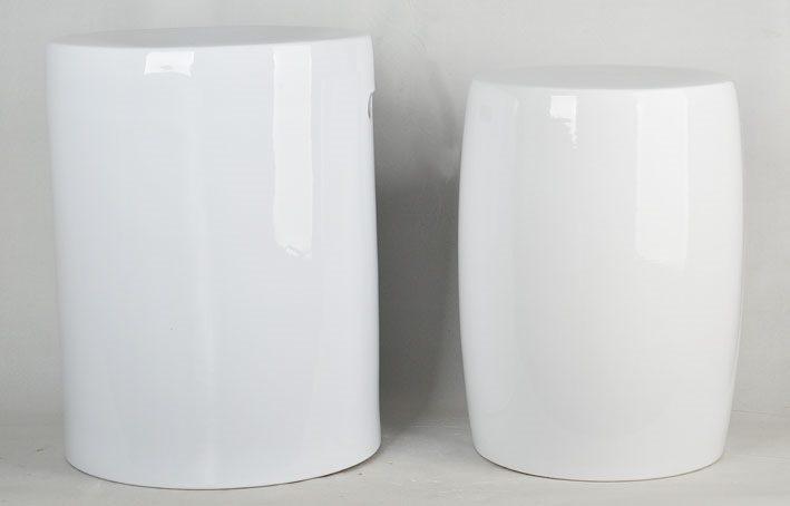 景德镇  全白 陶瓷凳卧室洗手间厕所色釉瓷墩室内室外现货淘宝代发