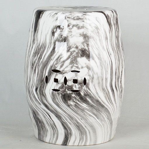 景德镇  铜钱凳  经典传统凳大理石水墨纹路效果中高温陶瓷色釉瓷墩厂家直销